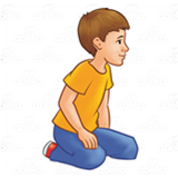 Boy Sitting on Knees