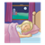 Sleeping Girl Color PNG