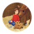 Boy in Barn Color PNG
