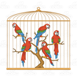 Golden Bird Cage