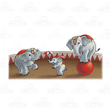 Three Circus Elephants