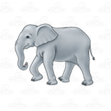 Walking Gray Elephant