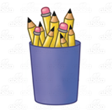 Purple Pencil Cup