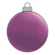 Round Purple Ornament