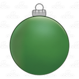 Round Green Ornament