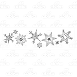 Row of Eight Snowflakes