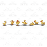 Seven Yellow Ducks