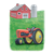 Tractor, Barn, and Silo Color PNG