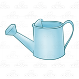 Light Blue Watering Can