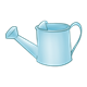 Light Blue Watering Can with handle