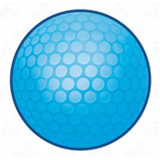 Blue Golf Ball
