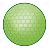 Lime Green Golf Ball