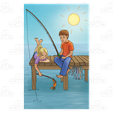 Boy and Girl Fishing