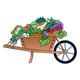 Wheelbarrow of Vegetables full