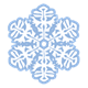 Blue Snowflake with flower design
