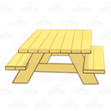 Yellow Picnic Table