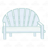 Light Blue Bench