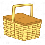 Wooden Picnic Basket