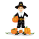 Pilgrim Boy with pumpkins