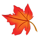 Maple Leaf red-orange