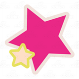Pink and Yellow Stars