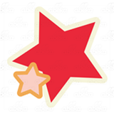 Red and Orange Stars