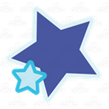 Dark Blue and Teal Stars