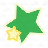 Green and Yellow Stars