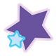 Blue and Purple Stars two