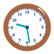 Brown Clock showing 9:29