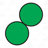 Two Green Circles