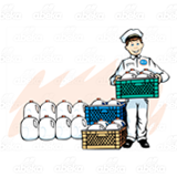 Milkman with Crate