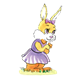 Girl Bunny with purple bow