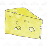 Wedge of Yellow Cheese