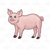 Standing Pink Pig