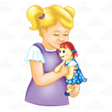 Girl Holding Doll