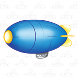 Blue and Yellow Blimp
