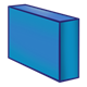 Long Blue Block rectangular