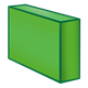 Long Green Block rectangular