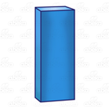 Tall Blue Block