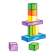 Block Tower using multicolored blocks