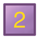 Purple Block square, with yellow number 2