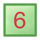 Green Block square, with red number 6