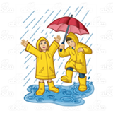 Children in Raincoats