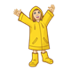 Girl Wearing Raincoat