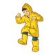 Boy Wearing Raincoat