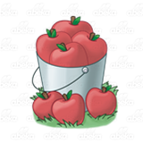 Bucket of Red Apples