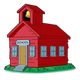Red Schoolhouse with bell