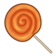 Orange Lollipop with swirls