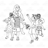 Group of Five Children